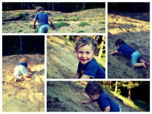 zabawa na piaskowej gorce