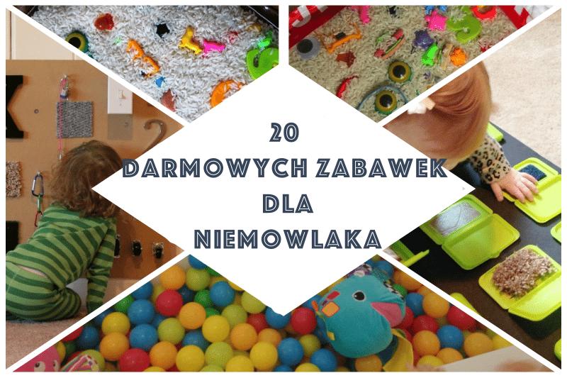 20 pomysłów na darmowe zabawki dla niemowlaka