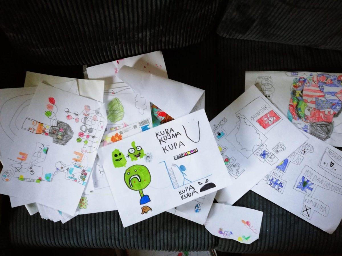 jak przechowywać rysunki dzieci